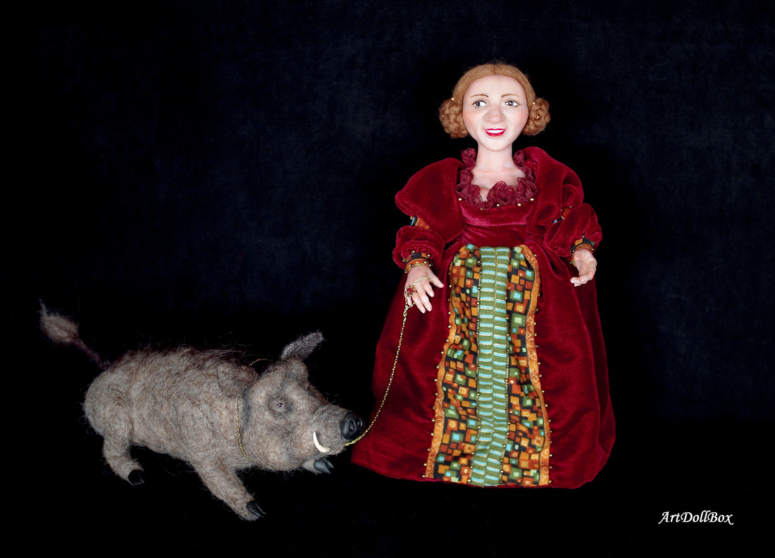 Lady Gnome with Wild Boar